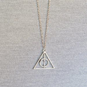 Jewelry - Deathly Hallows Zinc Silver Alloy Pendant